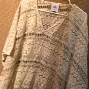 Cabi lace poncho with sleeves
